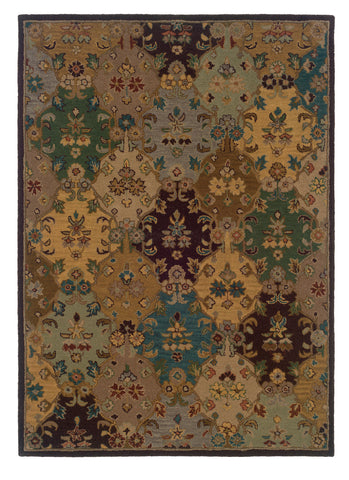 Linon Trio Traditional RUG-TT10 Ivory/Multi Area Rug main image