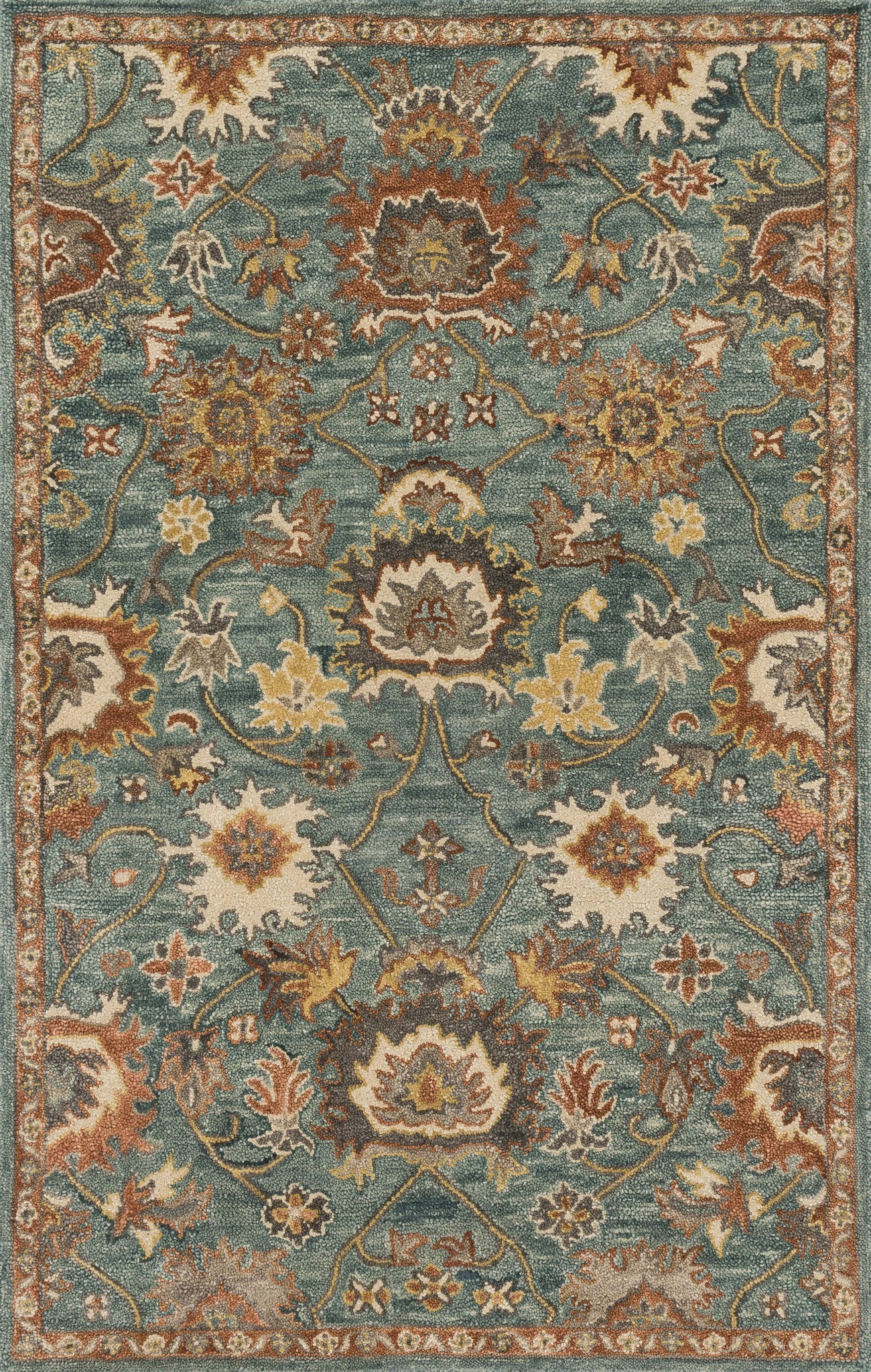 Loloi Underwood UN-01 Blue / Rust Area Rug main image