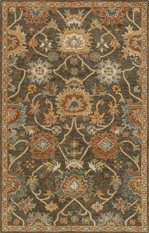 Loloi Underwood UN-01 Charcoal / Gold Area Rug main image