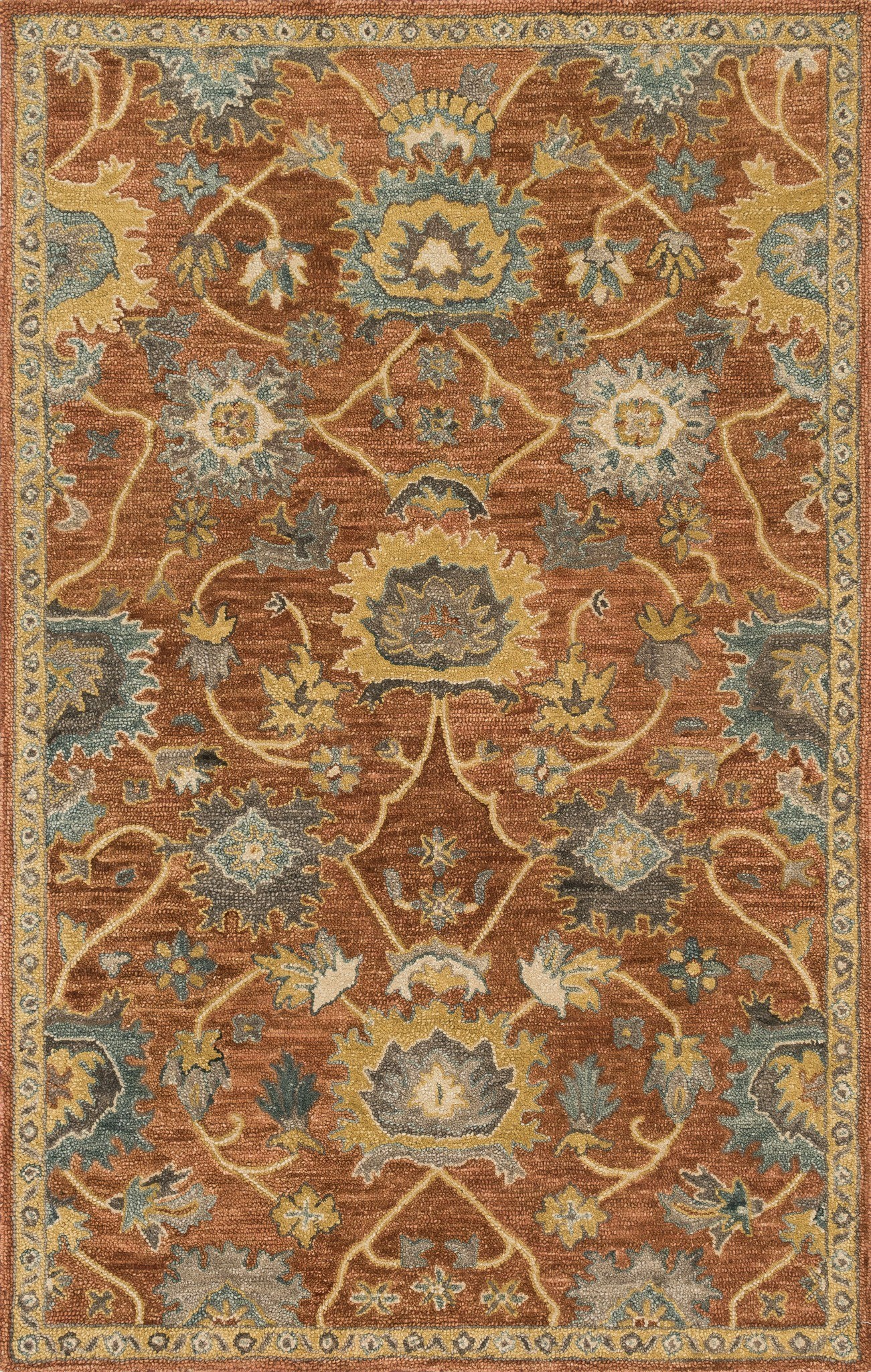 Loloi Underwood UN-01 Rust / Gold Area Rug main image
