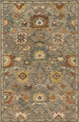 Loloi Underwood UN-01 Taupe / Blue Area Rug main image