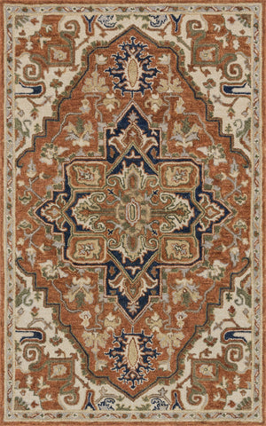Loloi Underwood UN-02 Rust / Stone Area Rug main image