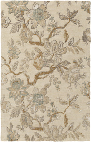 Verdant VDT-1002 White Area Rug by Surya