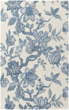 Verdant VDT-1004 White Area Rug by Surya