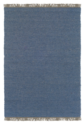 Linon Verginia Berber RUG-VE506 Denim Blue/Denim Blue Area Rug main image