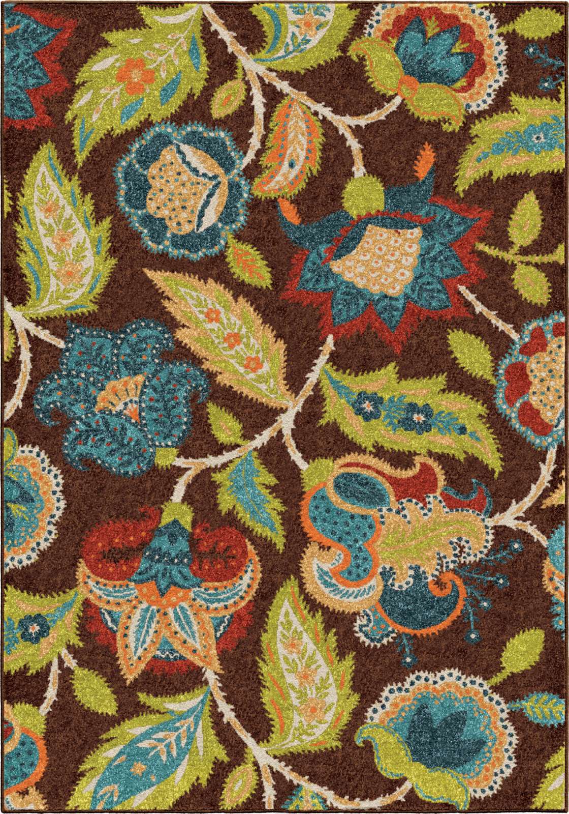 Orian Rugs Veranda Ethridge Brown Area Rug main image