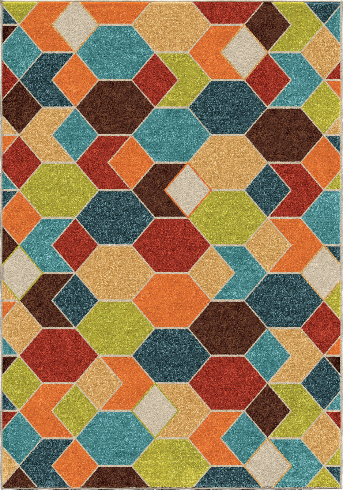 Orian Rugs Veranda Diamond Struck Multi Area Rug main image