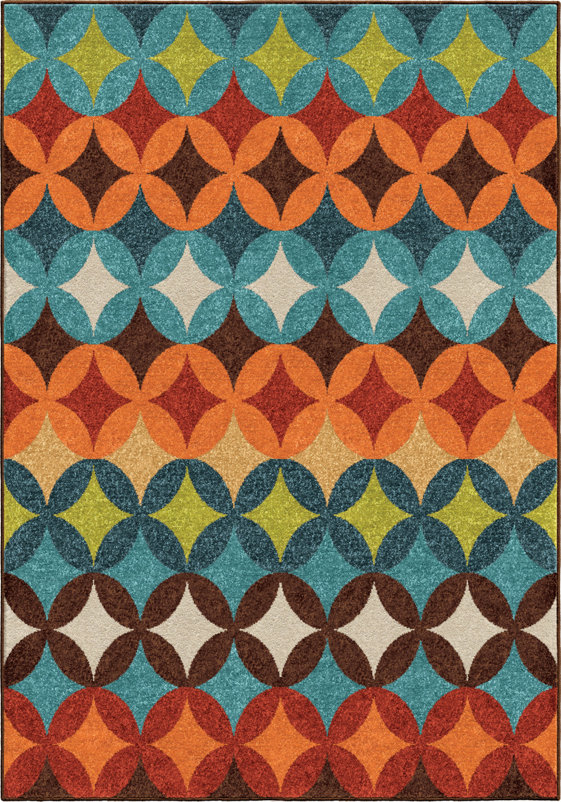 Orian Rugs Veranda Brandon Berry Multi Area Rug main image