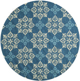 Momeni Veranda VR-29 Blue Area Rug Close up