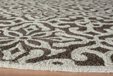 Momeni Veranda VR-54 Brown Area Rug Corner Shot