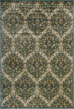 KAS Versailles 8501 Blue/Green Trellis Machine Loomed Area Rug