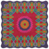 LR Resources Vibrance 03540 Multi Hand Tufted Area Rug 4' Square
