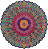 LR Resources Vibrance 03540 Multi Hand Tufted Area Rug 5' Round