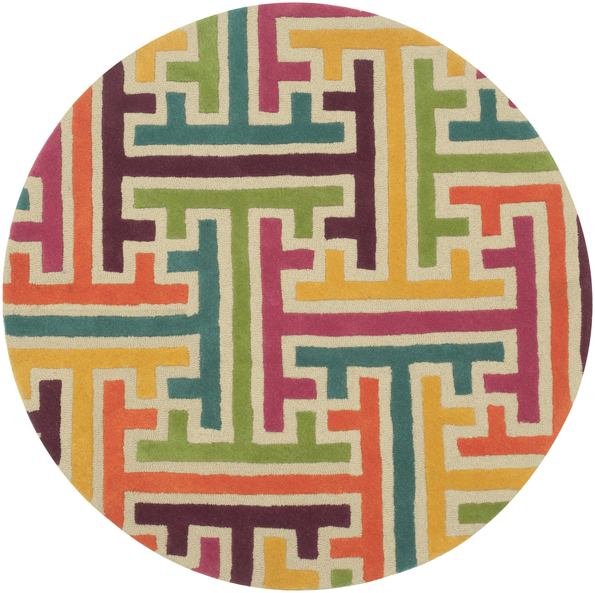 LR Resources Vibrance 03544 Beige Area Rug