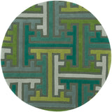 LR Resources Vibrance 03544 Miami Hand Tufted Area Rug 7'9'' Round