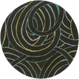 LR Resources Vibrance 03545 Miami Hand Tufted Area Rug 5' Round