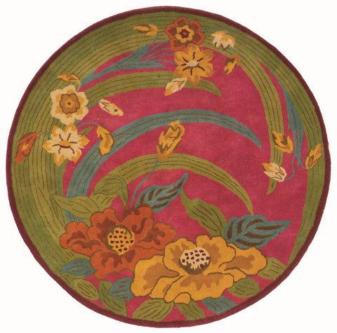 LR Resources Vibrance 03547 Pink Area Rug
