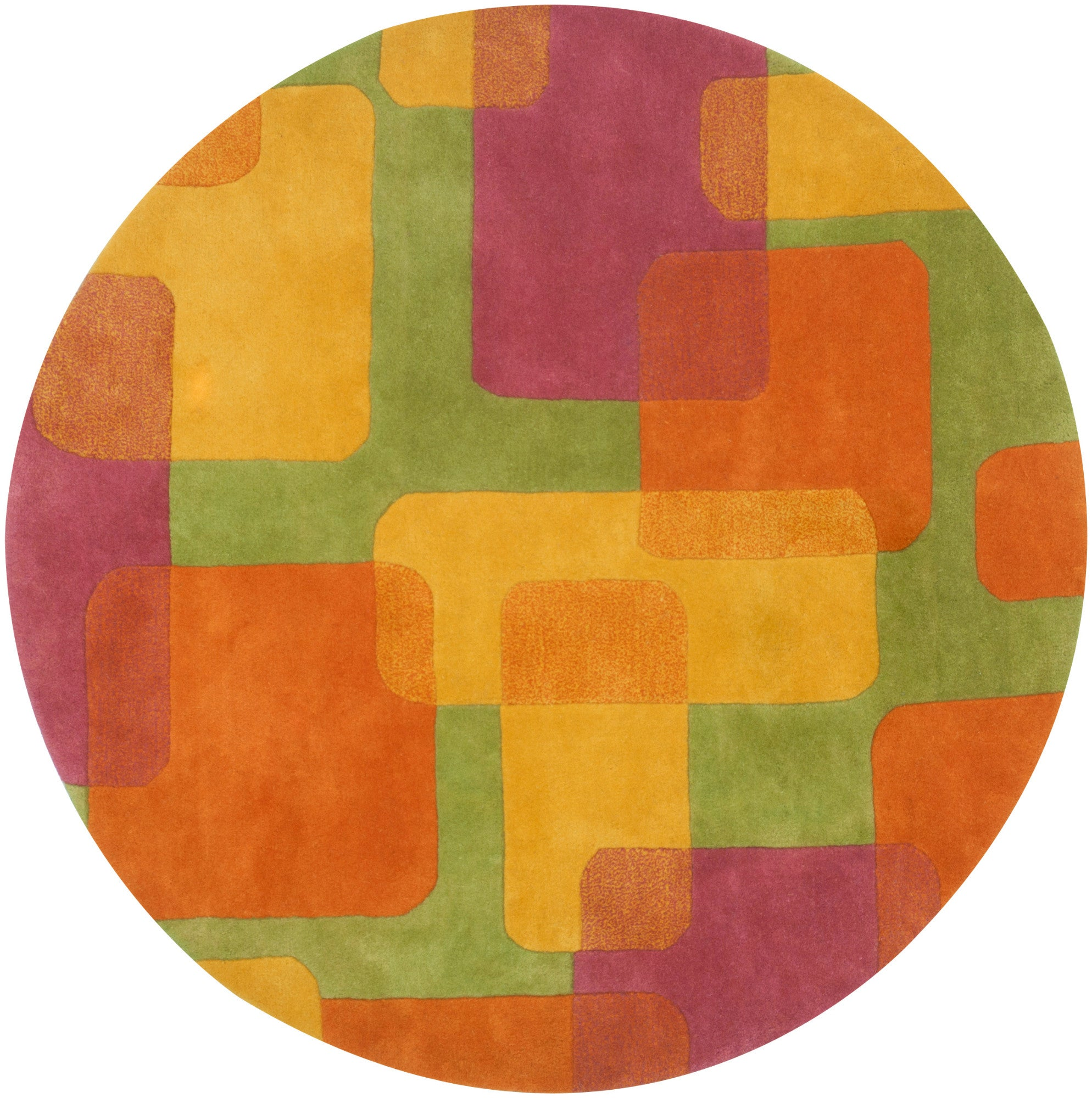 LR Resources Vibrance 03548 Lime Area Rug