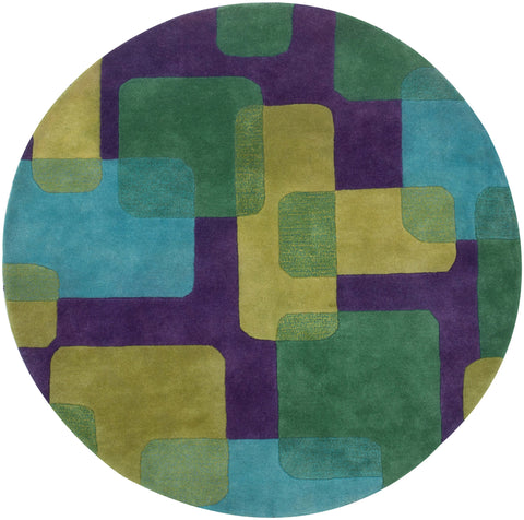 LR Resources Vibrance 03548 Purple Area Rug