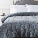 Surya Vienna VIE-2000 Blue Bedding Twin Quilt