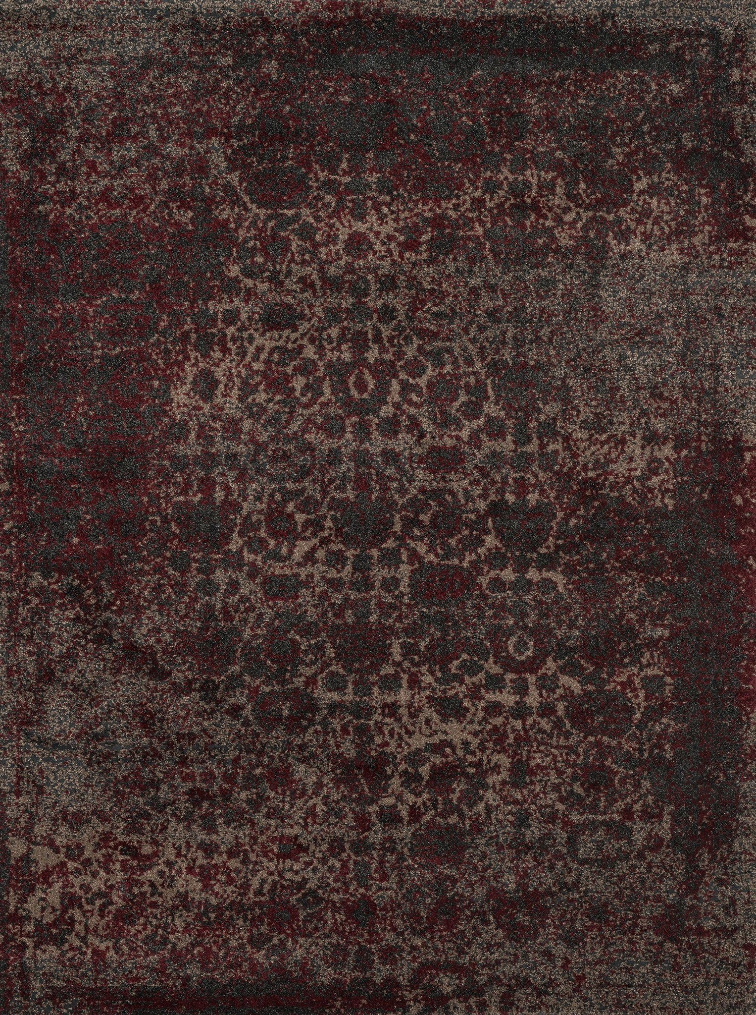 Loloi Viera VR-05 Charcoal / Red Area Rug main image