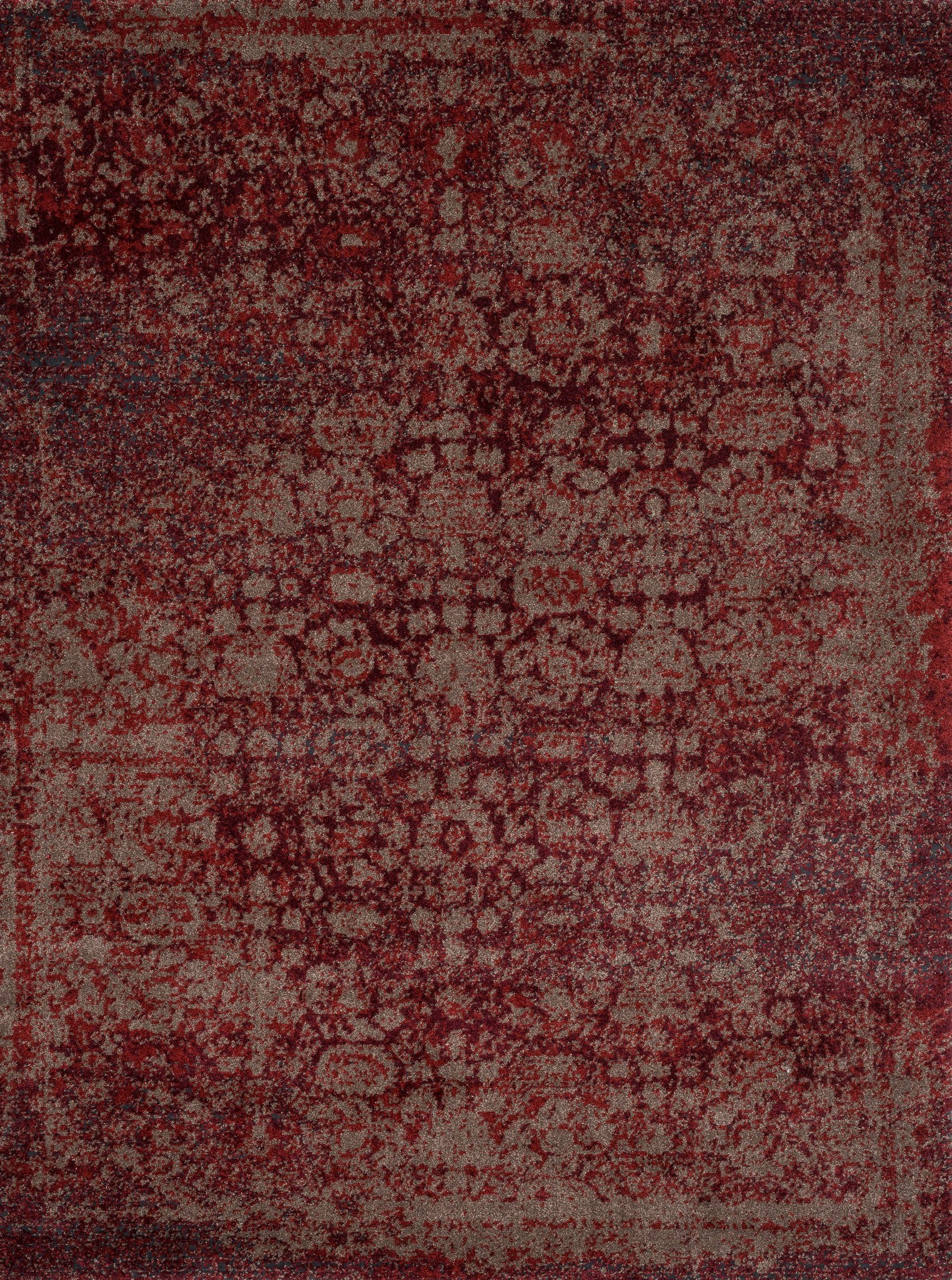 Loloi Viera VR-05 Red / Taupe Area Rug main image