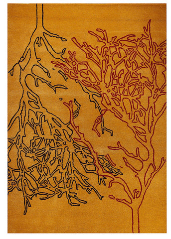 MAT Milano Vines Orange Area Rug main image