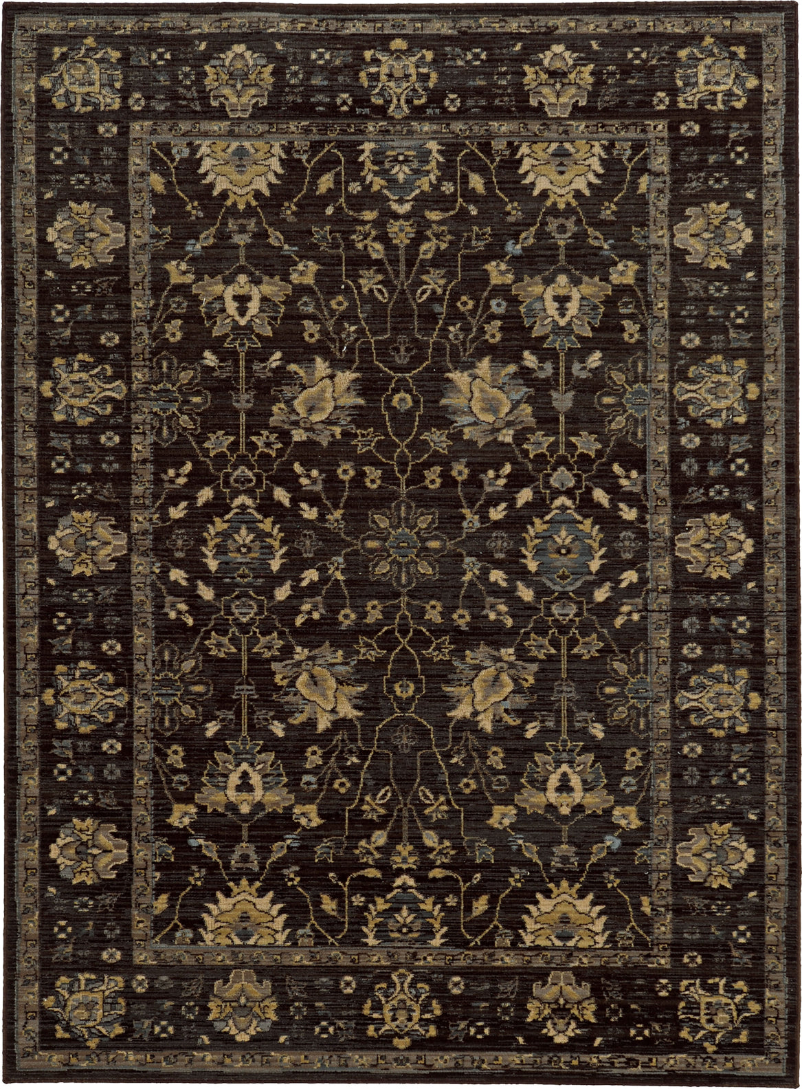 Tommy Bahama Vintage 534N5 Charcoal Area Rug main image