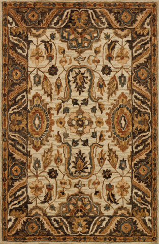 Loloi Victoria VK-02 Ivory/Dk Taupe Area Rug main image