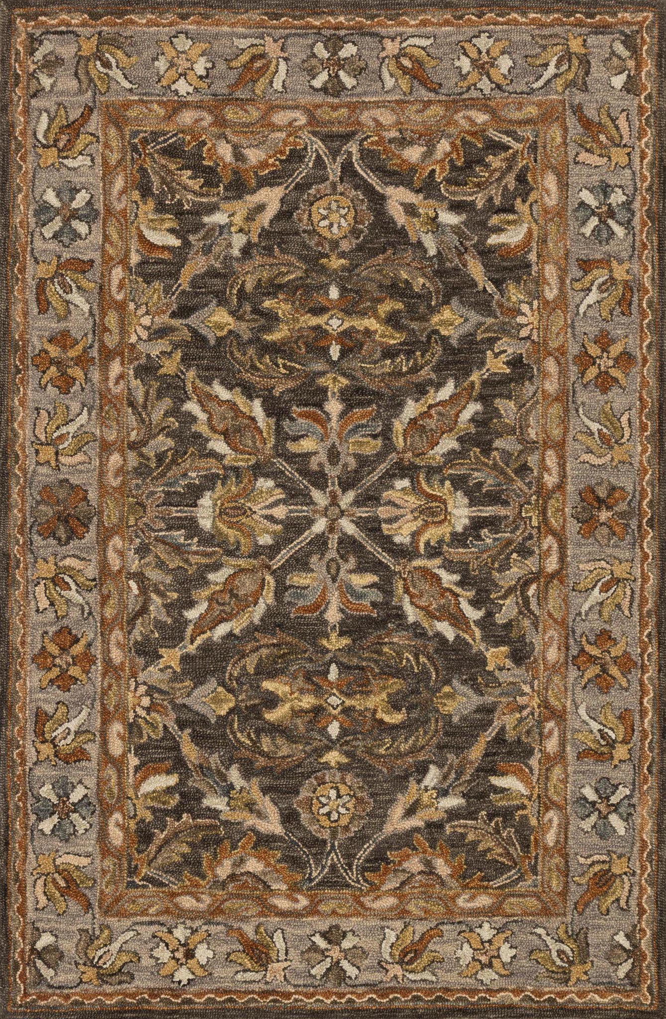 Loloi Victoria VK-06 Dk Taupe/Grey Area Rug main image