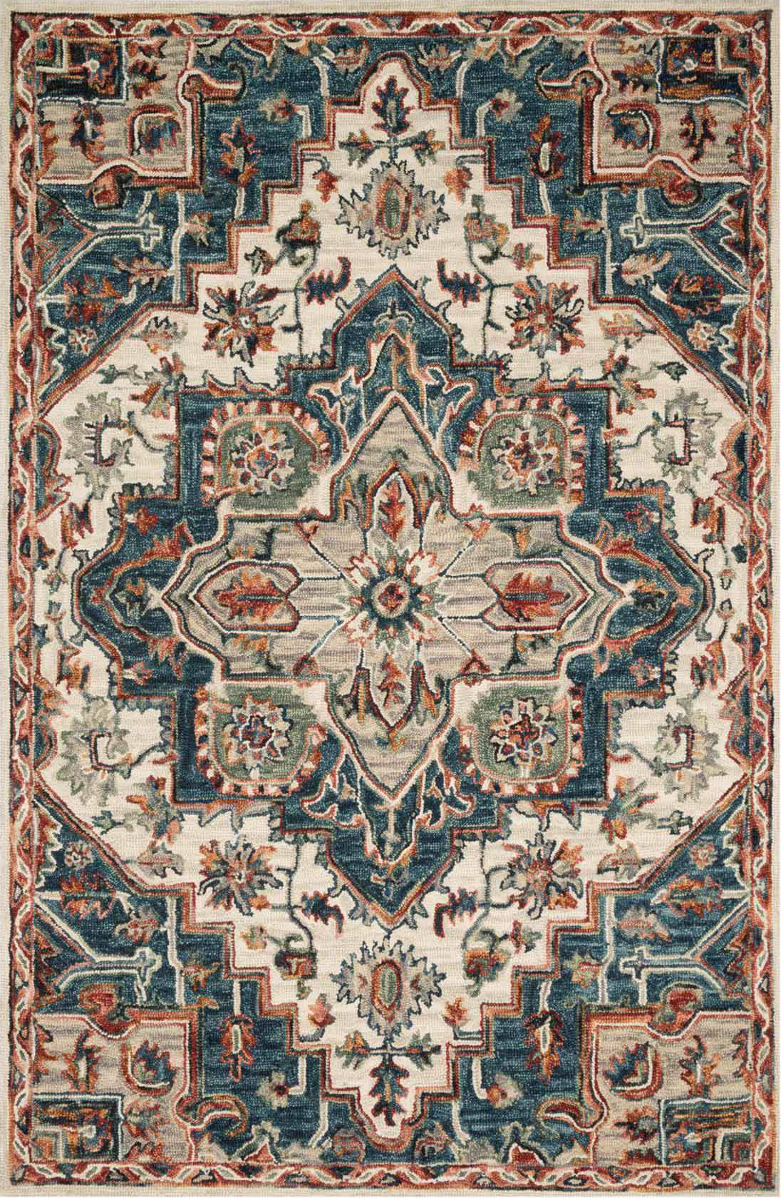 Loloi Victoria Vk 16 Blue Red Area Rug Incredible Rugs And Decor