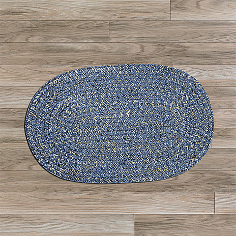 Colonial Mills West Bay WB51 Blue Tweed Area Rug main image