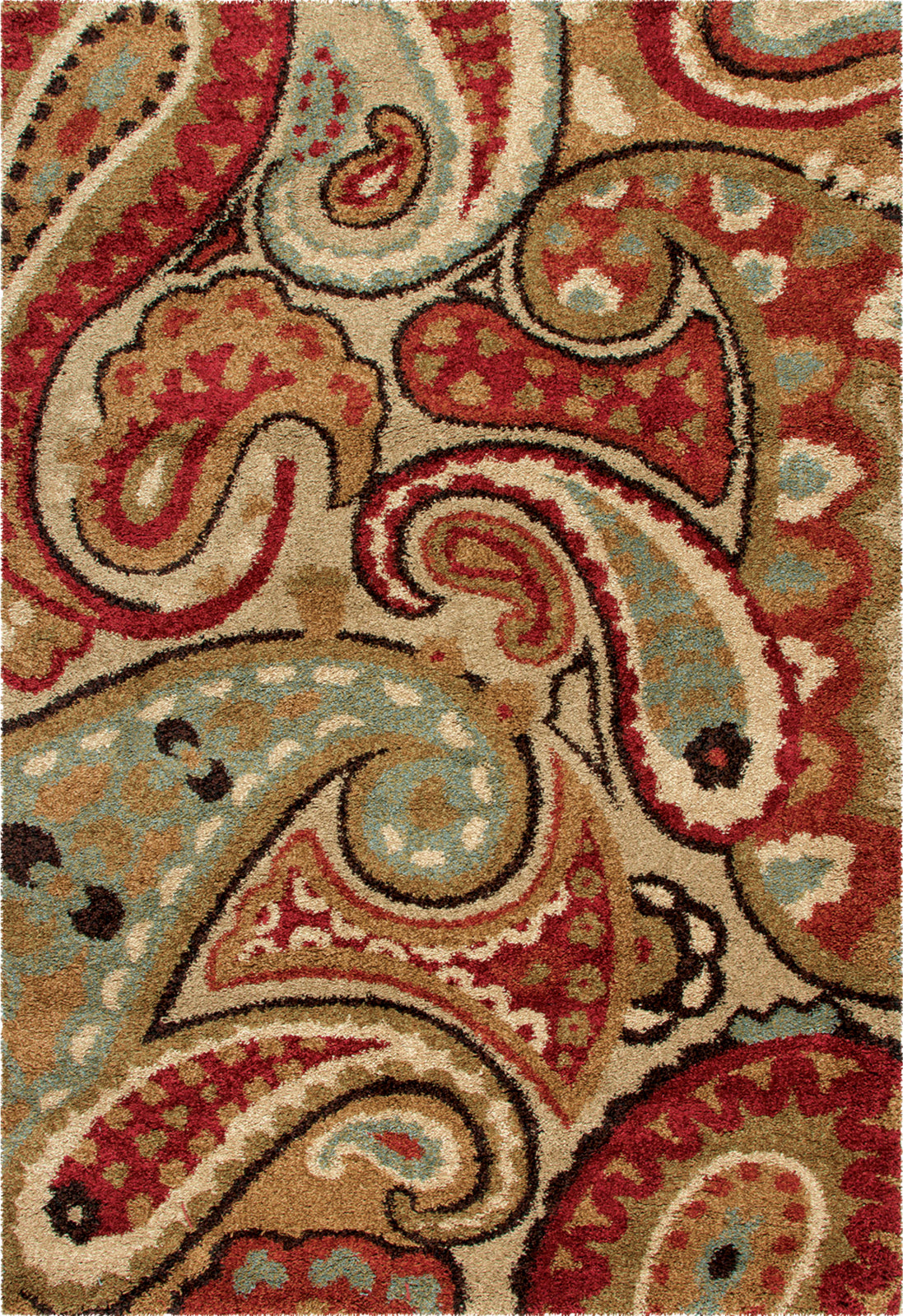 Orian Rugs Wild Weave Paisley Multi Area Rug by Palmetto Living main image