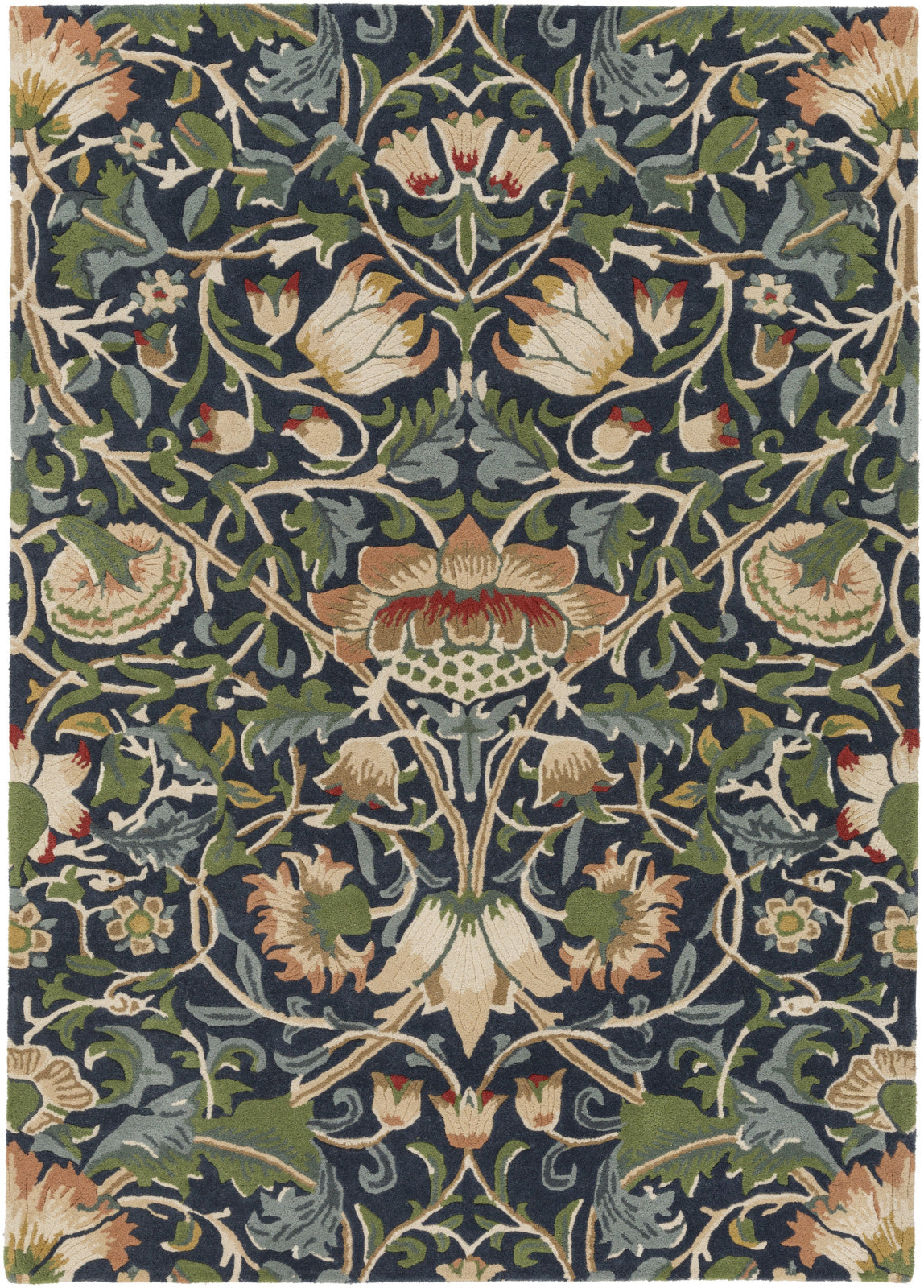 Surya WLM-3011 Blue Area Rug by William Morris main image