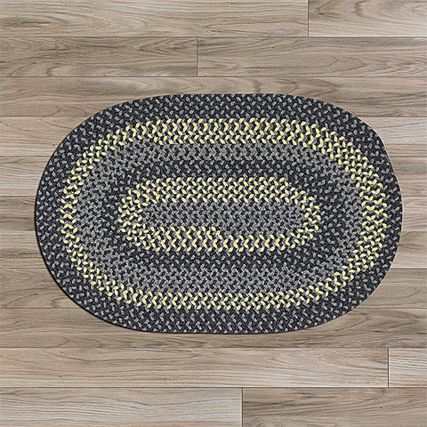 Colonial Mills Walden WN33 Charcoal/Yellow Area Rug main image