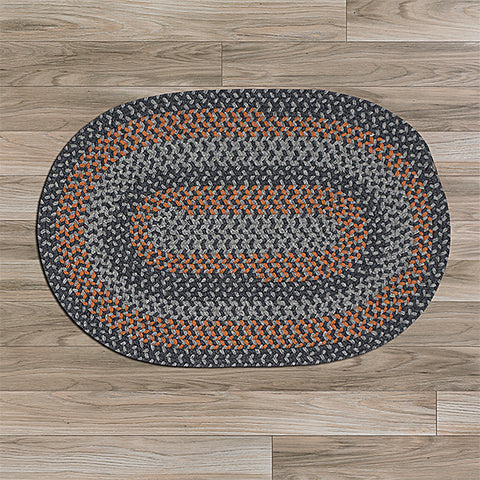 Colonial Mills Walden WN43 Charcoal/Orange Area Rug main image