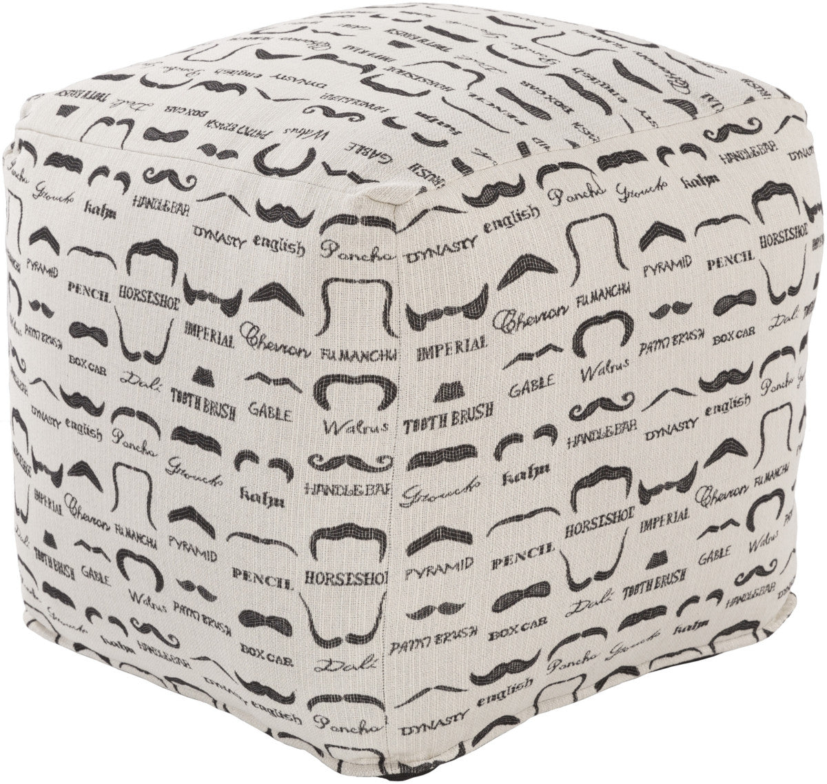 Surya Wax That Stache WSPF-001 Neutral Pouf by Mike Farrell
