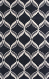 KAS Zolo 3900 Black Ribbons Hand Tufted Area Rug