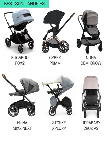 best strollers with sun canopies 2021