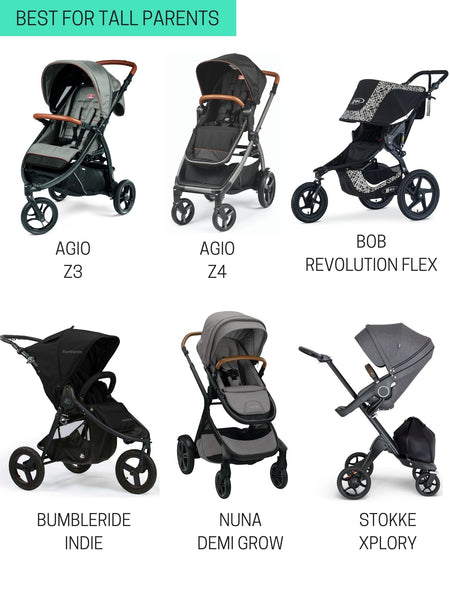 best strollers for tall parents 2021