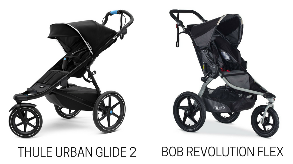 thule urban glide vs bob revolution flex stroller comparison