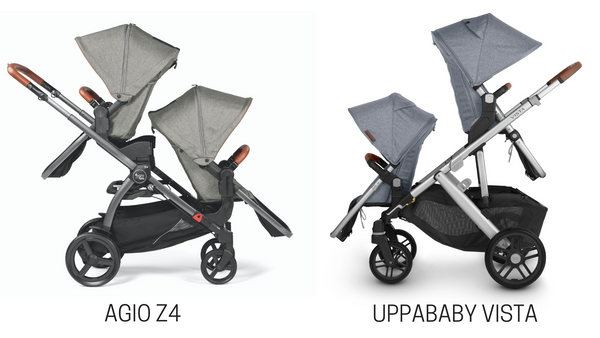 Agio Z4 vs. UPPAbaby VISTA Stroller Comparison