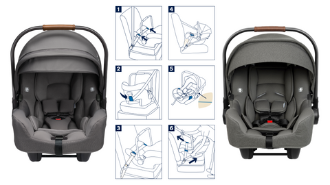 Which Nuna car seats can be installed without the base