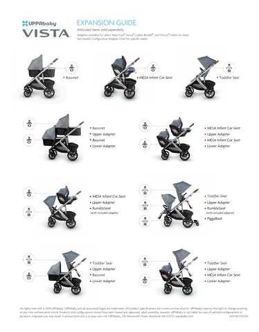can the uppababy vista convert to a double