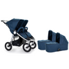Bumbleride Indie Twin Double Jogging Stroller and Bassinet Bundle