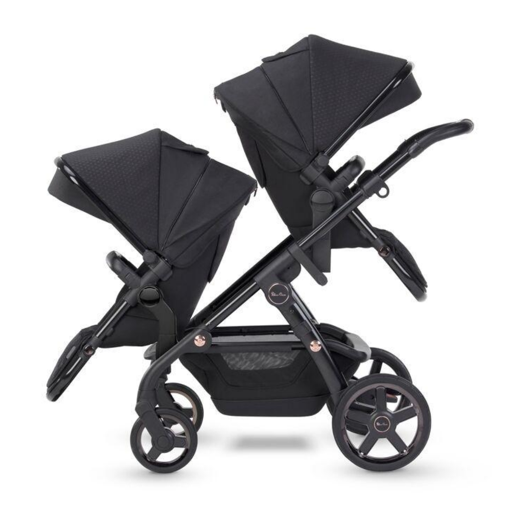 2021 Silver Cross Wave Twin Stroller - Eclipse Collection