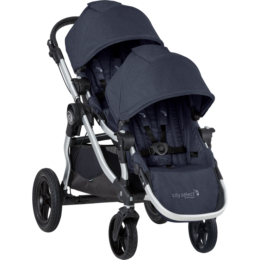 2019 Baby Jogger City Select Double Stroller-Slate-2083082 / 2083632-Strolleria