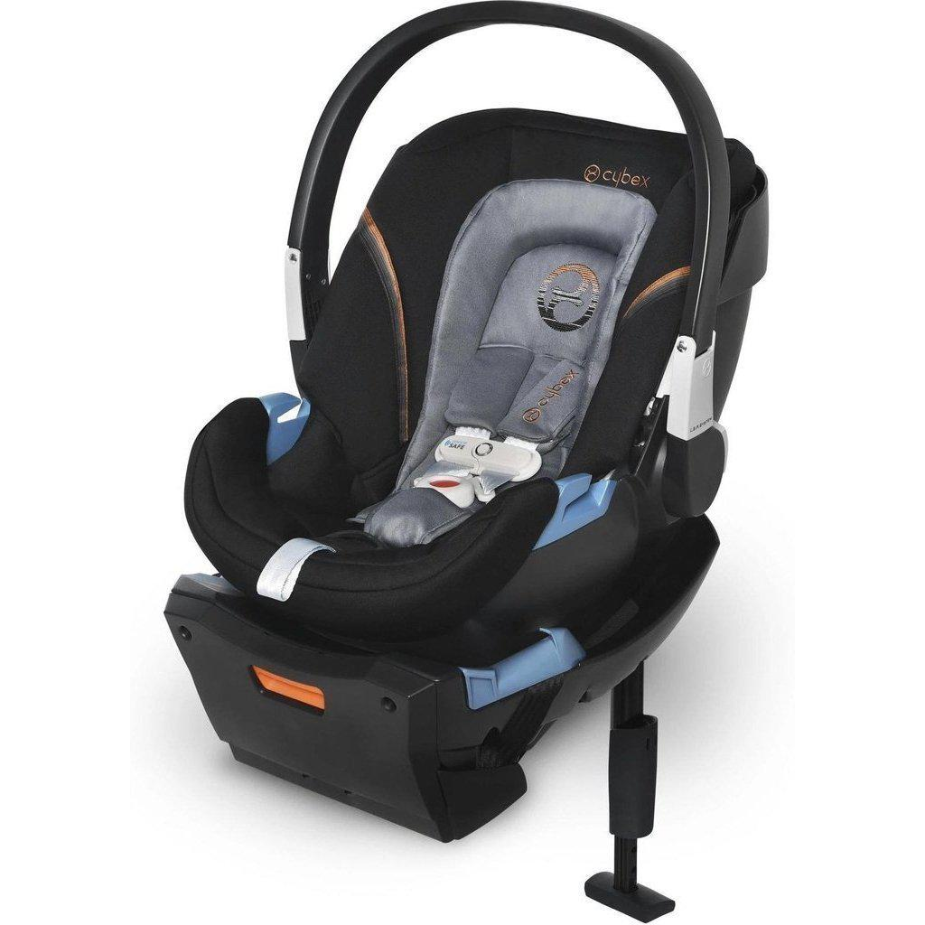 2019 Cybex Aton 2 Infant Car Seat with SensorSafe and Base-Denim Blue-519003601-Strolleria