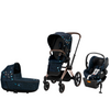 Cybex Priam3 Stroller, Carry Cot, and Cloud Q Infant Car Seat Bundle - Jewels of Nature