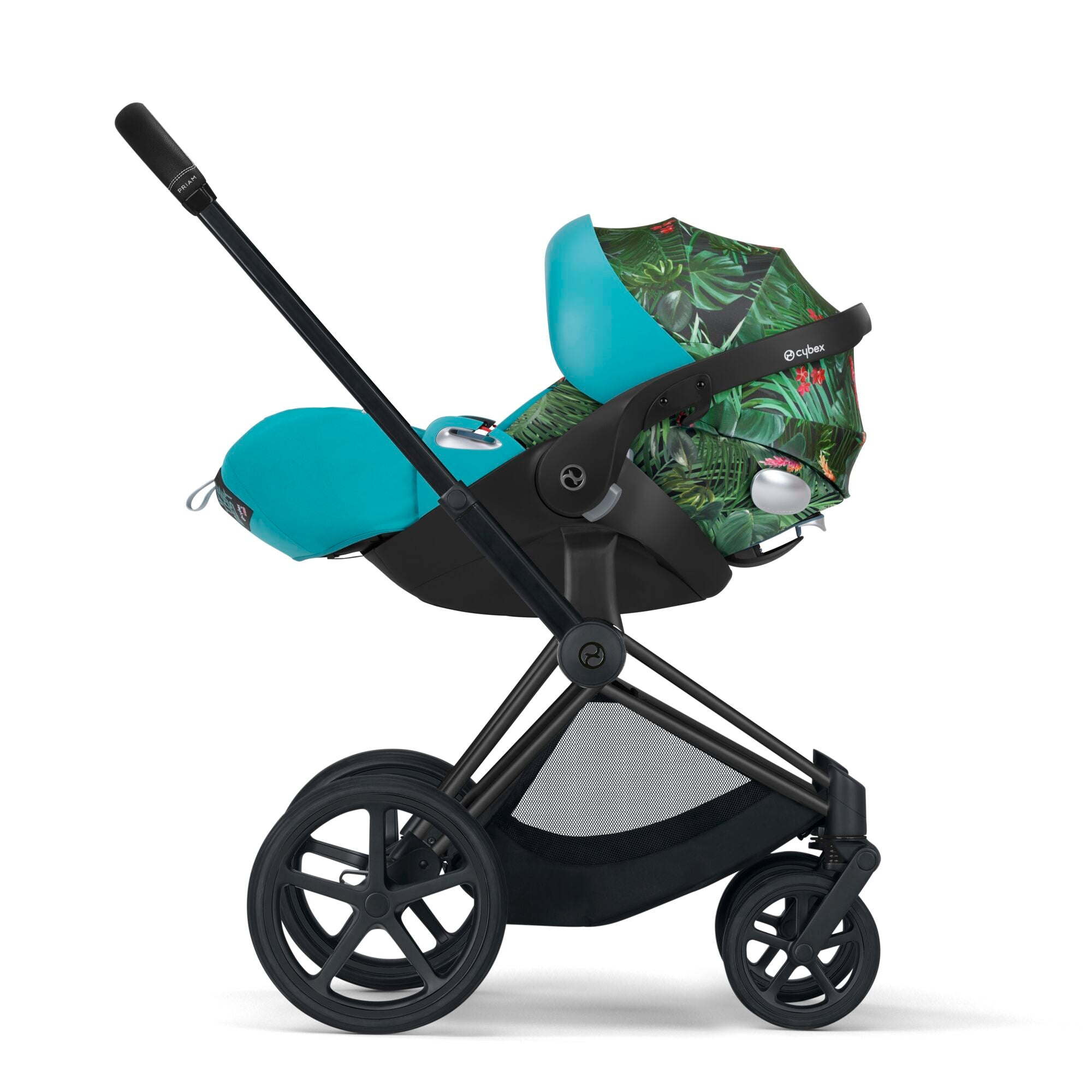 Cybex Priam3 Stroller, Carry Cot, and Cloud Q Infant Car Seat Bundle - We The Best by DJ Khaled